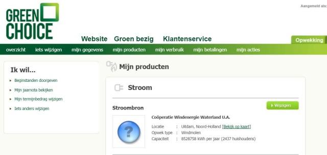 Greenchoice stroom van CWW