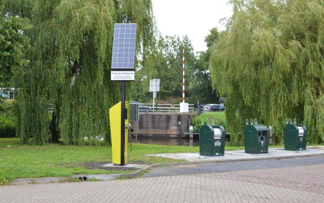 Derde bandenpomp staat in Broek in Waterland